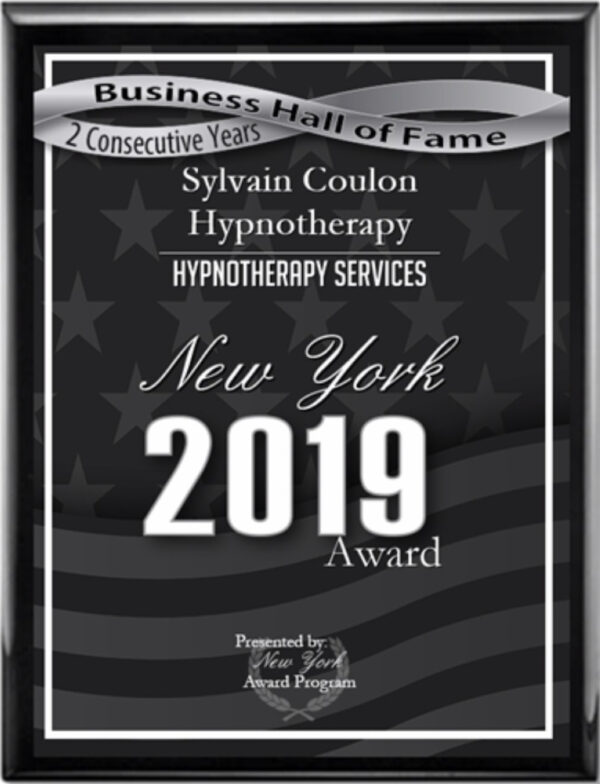 Sylvain Coulon Hypnotherapy New York 2019 Awards